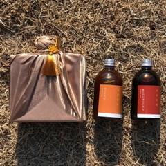 따뜻한 온도, 국산 홍도라지생강청+생강청 선물세트