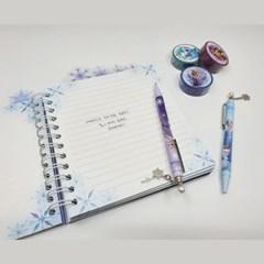디즈니 겨울왕국 눈꽃 장식 볼펜