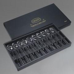 컬러티타늄 한식수저 선물세트 10벌박스 블랙