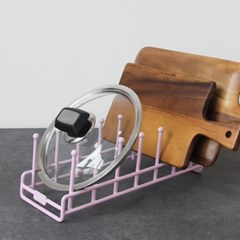 실리콘 코팅 6단 접시꽂이 (크림,핑크 2color)