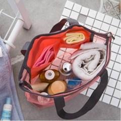 다용도 매쉬 목욕가방 1개(색상랜덤)