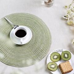 린넨 테이블 식탁매트 원형