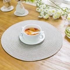 PVC 방수 테이블 식탁매트 원형