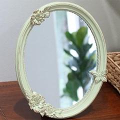 앤틱 그린 꽃과 나비 벽걸이겸용 거울