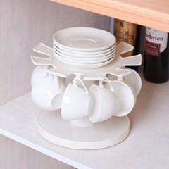회전 컵걸이 접시정리대