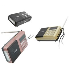 효도 선물용 LED 휴대용 미니 MP3 FM 라디오