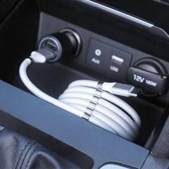 레드빈 마그네틱롤 선정리 USB 5핀 고속충전 자석 마그_(1599823)