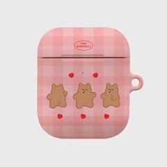 pink fluffy gummy 에어팟 하드케이스