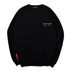 러브 마이셀프 기모 스웨트셔츠 BLACK