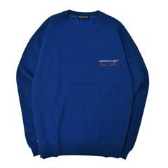 러브 마이셀프 기모 스웨트셔츠 BLUE