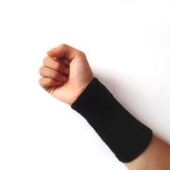 롱 손목 밴드(블랙)