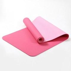 6mm 컬러 양면 TPE 요가매트(핑크)