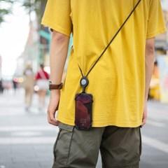본컬렉션 크로스바디 폰타이2 스마트폰 핸드폰 목걸이줄-블랙