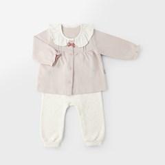 [메르베] 마들렌 아기 백일선물세트(내의+실내우주복+모_(1514581)