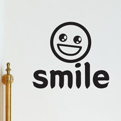 Smile 웃어요 귀여운 디자인 레터링 스티커