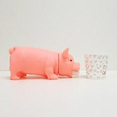 소리나는 돼지 대 색상랜덤 개입마개 애견용품