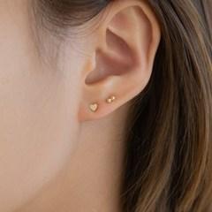 14k gold mini  layered ball earrings (14k 골드)