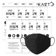 일회용 3D 마스크 50매 블랙(5매X10봉)