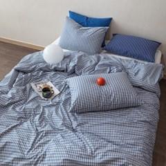블루진체크 자체제작 3size 호텔침구 사계절이불세트