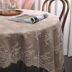 로맨틱 플라워 레이스 테이블보 식탁보 (2type)_(2037547)
