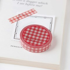 Check Ribbon Masking Tape [Classic Red]