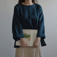 [Fabric] 백마포 셰도우 네이비 100% 퓨어린넨 캔버스
