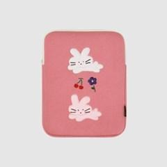 모찌타운 버니 핑크 아이패드 파우치 - 11인치