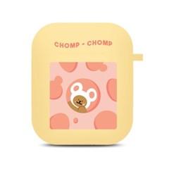 분홍 치즈 안에 곰있쥐 에어팟 케이스
