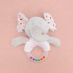 (가베가족베이비) KS2633-2 코끼리 딸랑이 핑크_(1713852)
