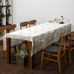 프렌치 레이스 테이블보(로즈가든) (150x250cm)