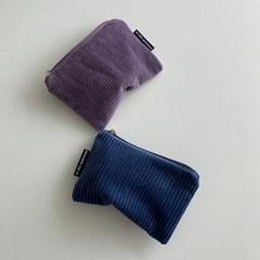 딥블루 골덴 파우치(Deep Blue corduroy pouch)
