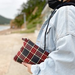 체크 크로스백 클러치백 파우치 3종/이니셜 이름자수 핸드폰가방