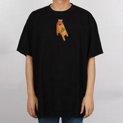 20FW 오프화이트 백 파스칼 스켈레톤 애로우 티셔츠 오버핏 (블랙) O