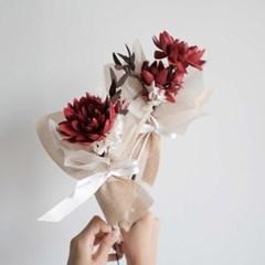 솝플라워 다알리아 비누꽃 납골당 미니꽃다발