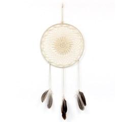 [반짝조명] 원형 깃털 마크라메 벽장식