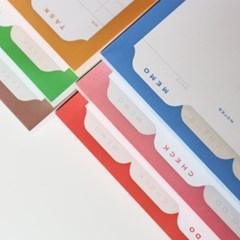 Memo Pad - To do, Check, Memo, Task, Meal, Cash (메모패드 6종)