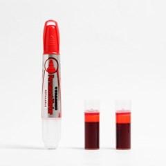 슈퍼볼륨 생잉크 유성매직 리필 세트(빨강) (2mm)