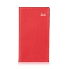 2021년 포켓다이어리 미디엄 소프트 레드 4 Type [L278]