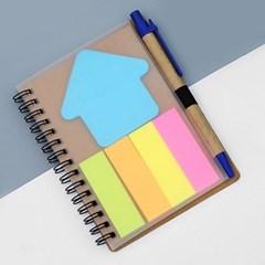 아트스케치 접착메모지 볼펜수첩(블루)