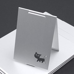 메탈릭 캣 접이식 탁상거울