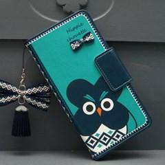 갤럭시S20U (G988)  HippieChouette-Blue 지갑 다이어리_(2861561)