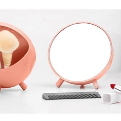 수납형 탁상거울(핑크)