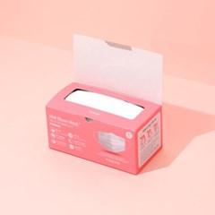 티쿤 3중 MB마스크 50매+휴대용 손소독제 로지화이트