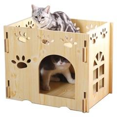 고양이 원목 하우스 DIY 캣타워 숨숨집 쉼터 놀이터