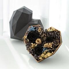 블랙 무광 하트박스 (2color)