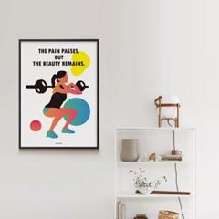 피트니스4 운동 건강 M 유니크 인테리어 디자인 포스터
