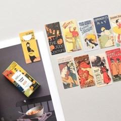 반달 북마크 - 08 빈티지 포스터 60매 세트