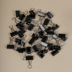 문구존 블랙 더블 클립 40p세트(2cm)