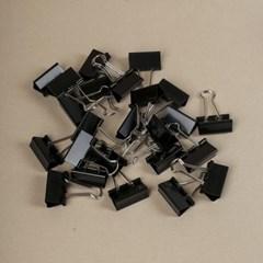 문구존 블랙 더블 클립 24p세트(3cm)