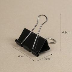 문구존 블랙 더블 클립 24p세트(4cm)